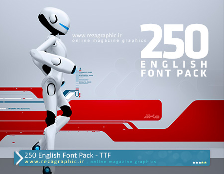 250 فونت انگلیسی - English Font Pack | رضاگرافیک