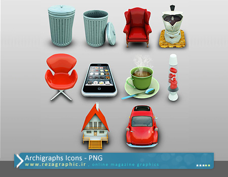 مجموعه آیکون - Archigraphs Icons | رضاگرافیک