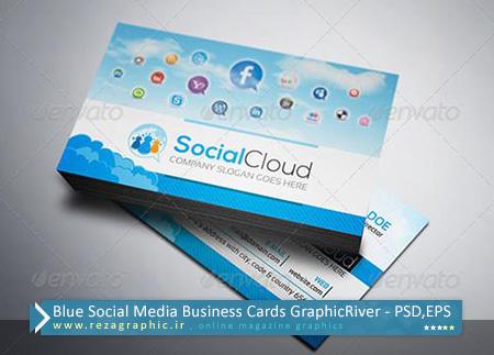 طرح لایه باز کارت ویزیت شبکه اجتماعی ها + وکتور - گرافیک ریور | رضاگرافیک