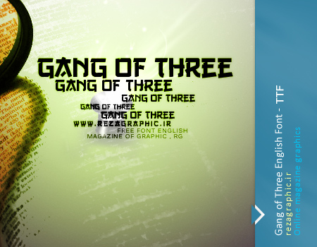 فونت انگلیسی - Gang of Three Font | رضاگرافیک