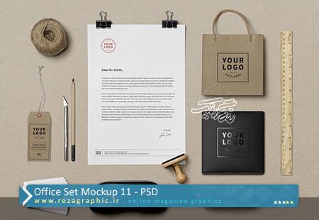 40 طرح لایه باز پیش نمایش ست اداری – Office Set Mockup 11 | رضاگرافیک